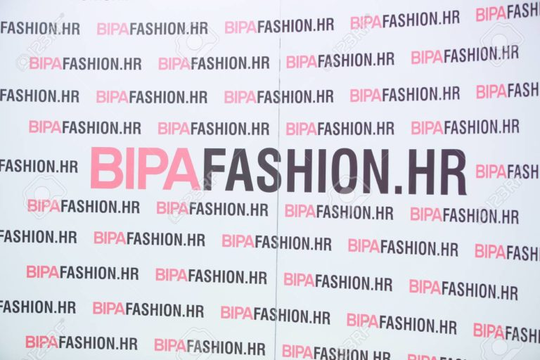 ZAGREB, CROATIA- MARCH 24, 2018: Bipa Fashion. Hr wall with logo on the Bipa Fashion.hr fashion show in Zagreb, Croatia.